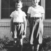 Jim and Bud Crawmer, at 3917 Paunack Avenue, ca. 1940