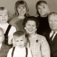 Mary and John Miller family, ca. 1965