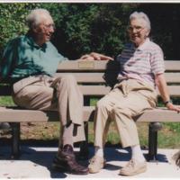 Ronny & Jerry Saeman, Westmor. Park Rock Gard. Bench, Sept.1999.jpg