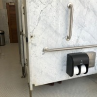 Photograph of women's bathroom, Municipal Restored, 2018