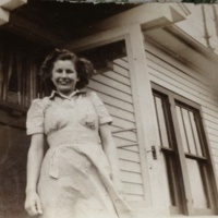 Mary Miller at home, ca. 1950s