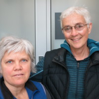 Photograph of Barb Lanser and Laura Berger, Municipal Restored, 2018