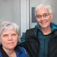Photograph of Barb Lanser and Laura Berger, Municipal Restored, 2018