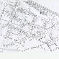 Hand-drawn map of Greenbush neighborhood