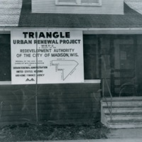 Photo of Triangle Urban Renewal sign