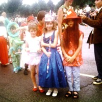 Westmorland 4th of July Parade-Mary Joe Schultz(middle) with friends, ca. 1967.jpg