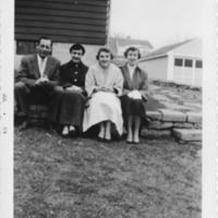 Ernie Jackson w. Lois, Judy, Joanne Jackson, 461 Westmorland Blvd. Home, June 1954.jpeg