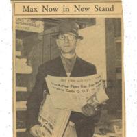 News clipping of Max Shapiro